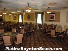The clubhouse at Platina provides residents with several card rooms.