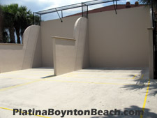Platina at Boynton Beach provides residents and visitors these handball courts located adjacent to the clubhouse.